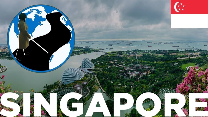 A thumbnail for The Power of Exploration - Planes, Trains and Canes Singapore Episode 4. It shows an aerial view of Singapore waterways. Superimposed on the image is the PTC Logo and a flag of Singapore.